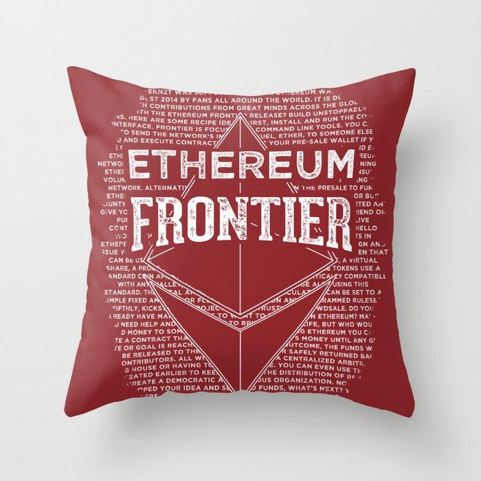 Ethereum Frontier (dark red) Throw Pillow