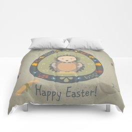 Festive Easter Egg with Cute Character Comforters
