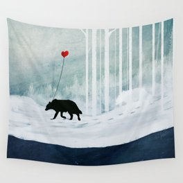 WOLF - A Love Always Carried  Wall Tapestry