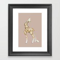 Giraffe Blocks Framed Art Print