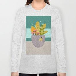 Succulent Garden with Moth Long Sleeve T-shirt
