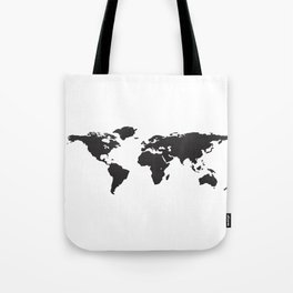 Low Fidelity World Map Tote Bag