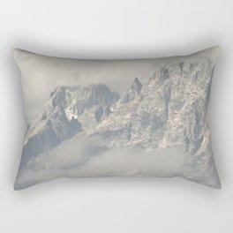 Dwarfed by Mountains Rectangular Pillow