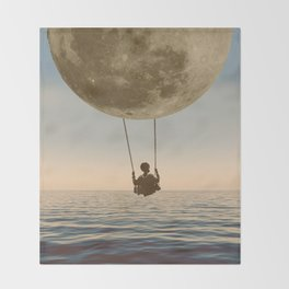DREAM BIG/MOON CHILD SWING Throw Blanket