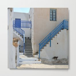 Greek Village 2 - Milos - Landscape and Rural Art Photography Metal Print