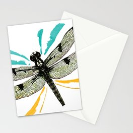 Autumn dragonfly Stationery Cards