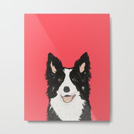 Montana - Border Collie gifts for dog people and dog lovers perfect gifts for a dog person.  Metal Print
