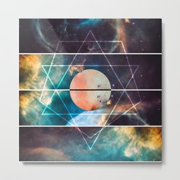 Geometric Space Metal Print