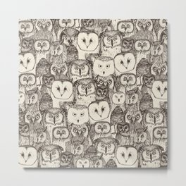 just owls natural Metal Print