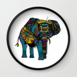 Elephant of Namibia Wall Clock