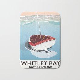 Northumberland Whitley Bay travel poster Bath Mat