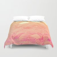 tequila Duvet Covers featuring Tequila sunrise by Hipsterdirtbag