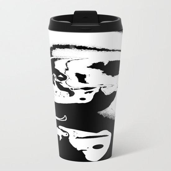 The Masks We Wear Metal Travel Mug