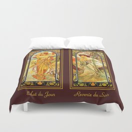 Vintage Art Nouveau - Alphonse Mucha Duvet Cover
