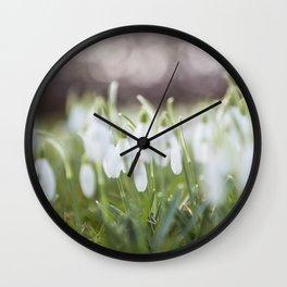 Snowdrops - Schneeglöckchen Wall Clock