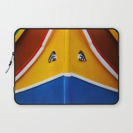 Maltese Boat - Luzzu Colours  Laptop Sleeve