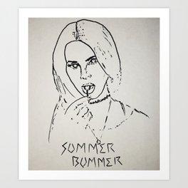 summer bummer ldr Art Print