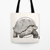 tortoise Tote Bags featuring Tortoise by Twentyfive
