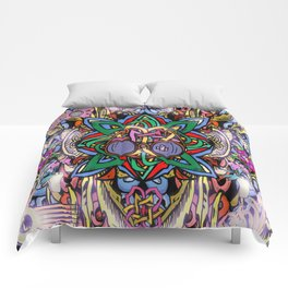 Interlaced World View Comforters