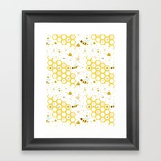 Honey Bees Framed Art Print