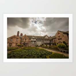 Cloudy Spring Day in an Old English Yard Art Print