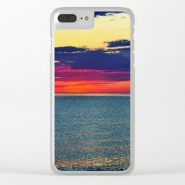 Later Bathing in the Afterglow Clear iPhone Case