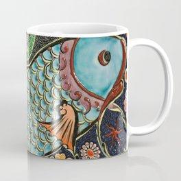 Mosaic Fish Tile Art Coffee Mug