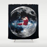 santa Shower Curtains featuring Santa by Cs025