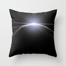 moon lens flare Throw Pillow