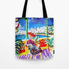 Vintage Menton France Travel Tote Bag