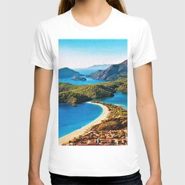The Blue Lagoon, A Landscape by Jeanpaul Ferro T-shirt