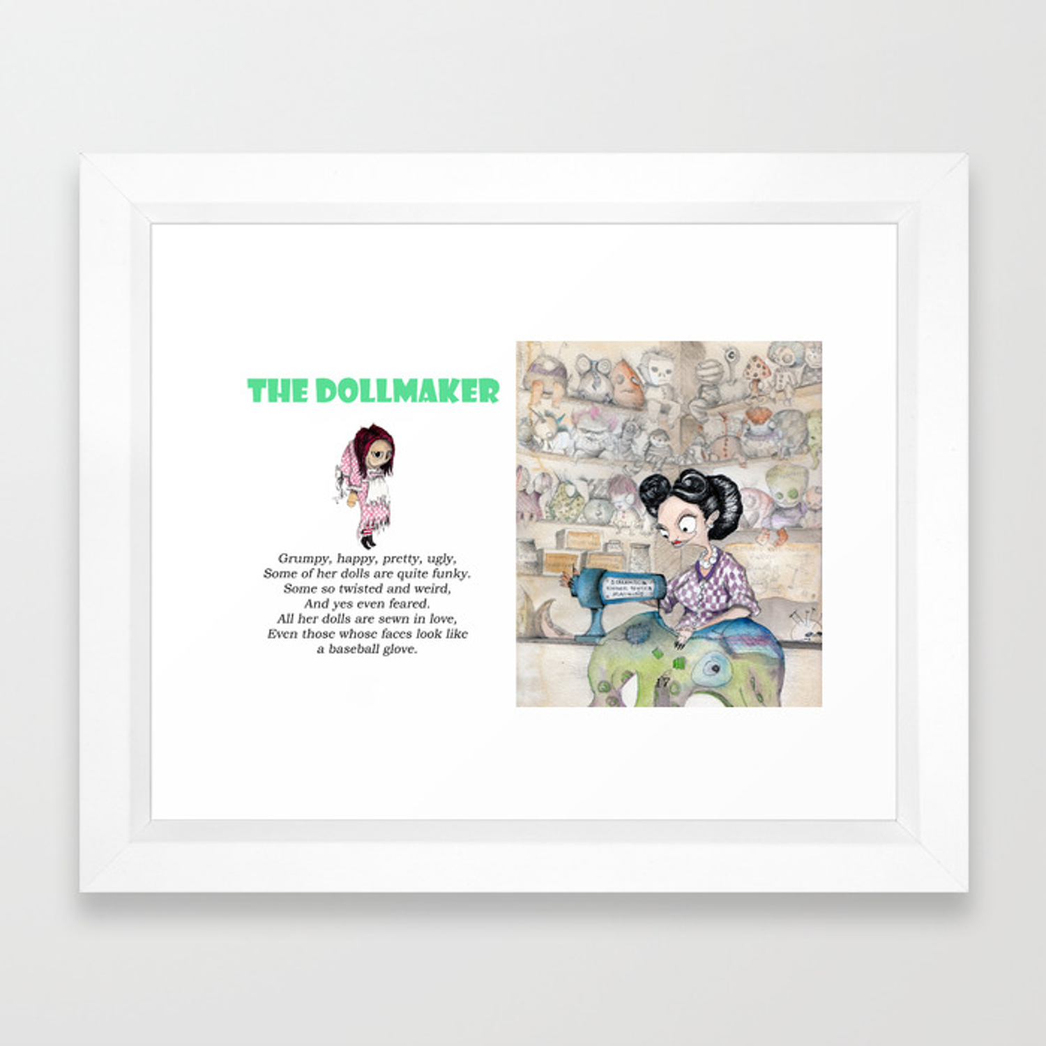 The Dollmaker Framed Art Print
