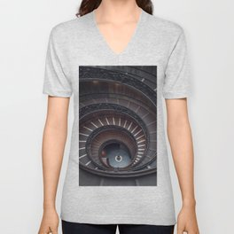 Vatican Double Helix Staircase Unisex V-Neck