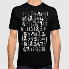 math doodle yellow Mens Fitted Tee Black MEDIUM