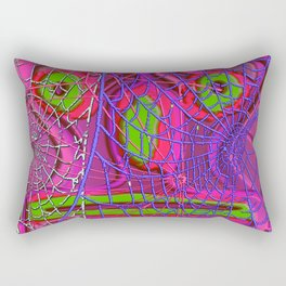 Mask with spiderweb Rectangular Pillow