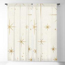 Seamless Pattern Glamorous White Gold Art Deco Stars Constellations Minimalist Geometric Pattern Blackout Curtain