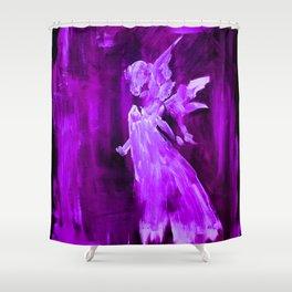 Guardian Angel - Purple Shower Curtain