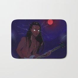 Blood Thunder Moon and booming music Bath Mat