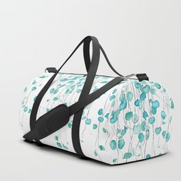 string of hearts watercolor Duffle Bag