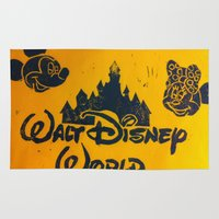 minnie Area & Throw Rugs featuring DISNEY CASTLE : MICKEY & MINNIE by Rhiannon