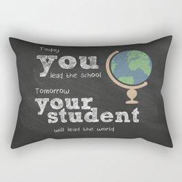 Lead the world | Teacher Appreciation Rectangular Pillow
