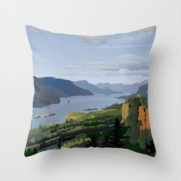 The Columbia River Gorge Throw Pillow