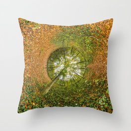 Le bois de Vincennes à l'automne - tunnel planète Throw Pillow