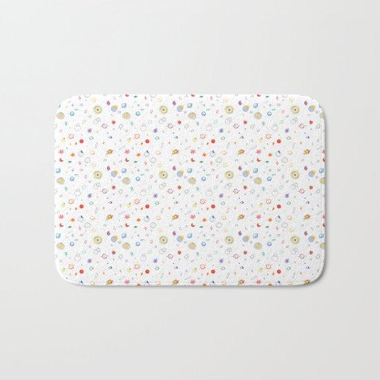 space pattern Bath Mat