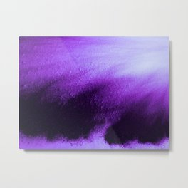 Indefinite Purple Metal Print
