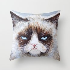Tard the cat Throw Pillow