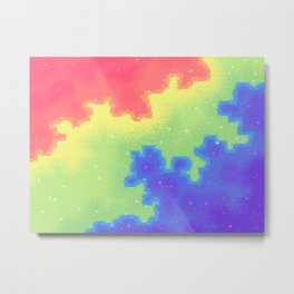 Rainbow Pride Flag Galaxy Metal Print