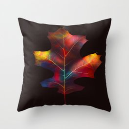 Rainbow Leaf Throw Pillow