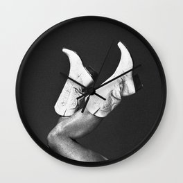 These Boots - Noir Wall Clock