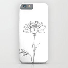 Botanical floral illustration line drawing - Lorna White iPhone Case